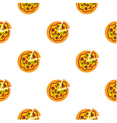 Pizza pattern flat vector