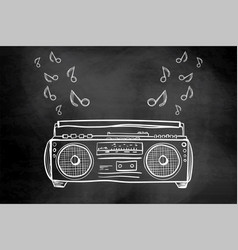 record player drawing on a chalkboard for your vector image