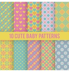 Retro kids seamless patterns Endless vector image vector image