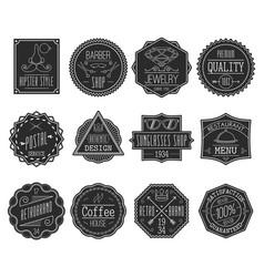 Retro labels set vector