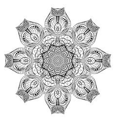 round black braided lace napkin decorative vector image