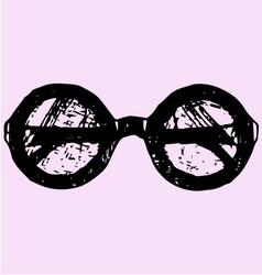 Round glasses vector