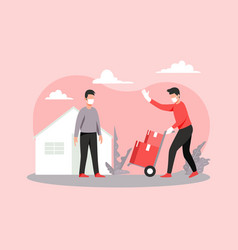 safe home delivery vector image