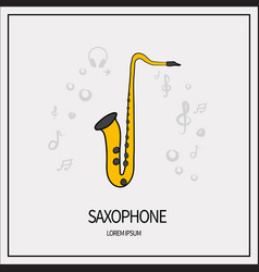 saxophone isolated icon vector image