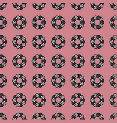 Seamless pattern with geometric shapes and symbol vector