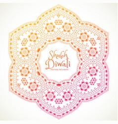 shubh diwali festival mandala art vector image