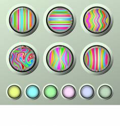 silk buttons vector image