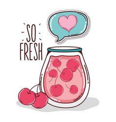 So fresh cherry juice vector