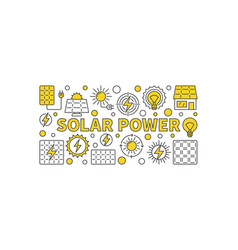 Solar power concept banner vector