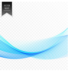 stylish blue wave design vector image