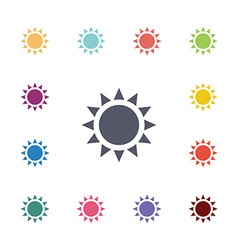 sun flat icons set vector image