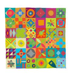 Talavera pattern indian patchwork turkish vector