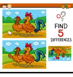 task of differences for child vector image