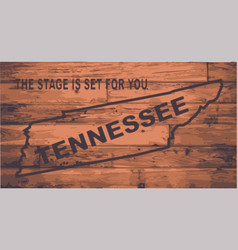 tennessee map brand vector image