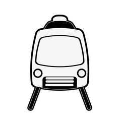 Train tramway frontview icon image vector