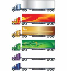 truck and trailer vector image