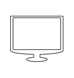 Tv screen technology vector