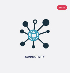 Two color connectivity icon from user interface vector