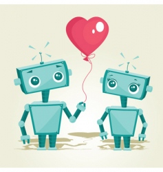 valentines robot vector image