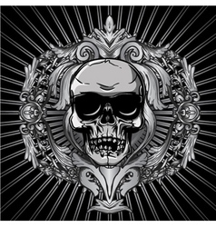 Vintage design with skull vector