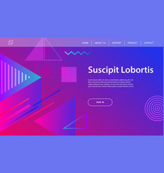 website template design and landing page vector image