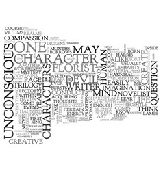 Where are a novelist s characters born text word vector