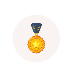winner medal icon golden prize sign success vector image