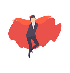 Young man dressed as vampire guy in bright vector