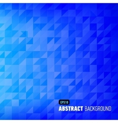 Blue geometric abstract background vector image vector image