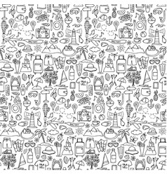 Hand drawn travel seamless pattern vector image vector image