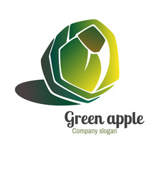 logo with green apple vector image