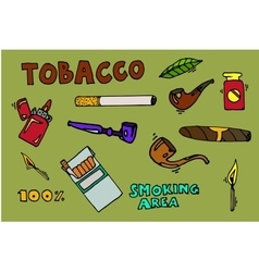 Smoking and tobacco icons vector image