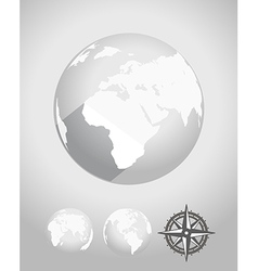 Flat design Earth vector image