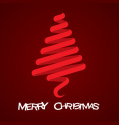 merry christmas tree design vector image