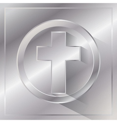 Metal cross vector