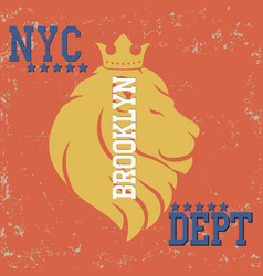 new york typograph vector image