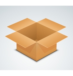 Open box Recycle brown paper box packaging vector image