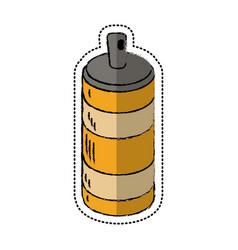 cartoon spray can container icon vector image