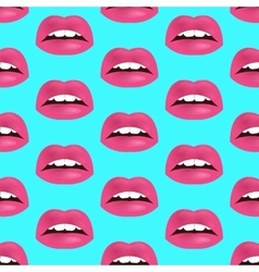 Glamour seamless lip pattern vector image vector image