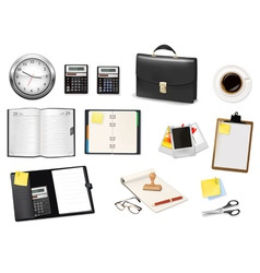office and business items vector image vector image