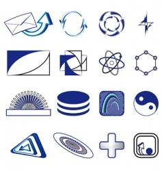 set of symbols vector image