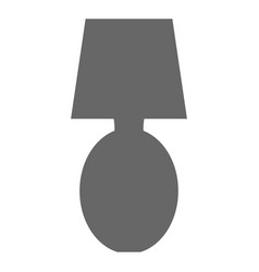 bedroom lamp isolated icon vector image
