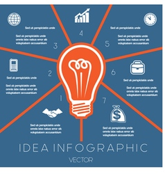 Idea Business Concept Light bulb infographic 7 vector image vector image