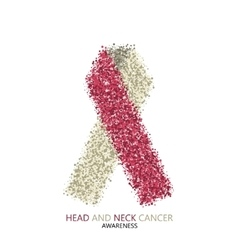 modern head and neck cancer awareness vector image vector image