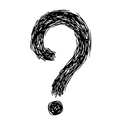 question mark 02 vector image