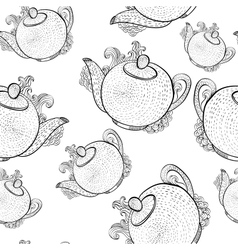 seamless pattern with teapots vector image