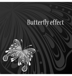 Text frame with abstract butterfly vector image vector image