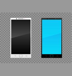 white black smartphone vector image vector image