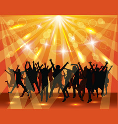 Young dancing people on the party vector image vector image