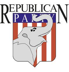 American republican party elephant vector